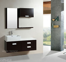 48 inch wall mount floating bathroom cabinet with mirror & faucet 099