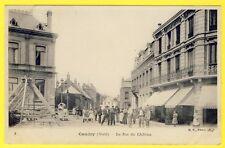 cpa RARE 59 - CAUDRY (Nord) Rue du CHÂTEAU Animé