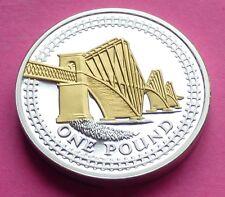 2008 Monnaie Royale argent preuve Forth bridge £ 1 seule Livre preuve coin + coa
