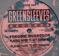 """FREDDIE MCGREGOR - Playing Hard To Get ~ 12"""" Single"""