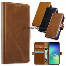 Leather Flip Wallet Case Phone Cover Stand Pouch Card For Samsung LG Cell Phones