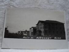 MAHNOMEN MN Minnesota Main Street Scene early 1900's  RPPC Postcard