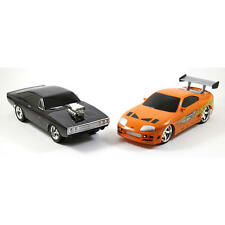 Fast and Furious Remote Control Car Two Pack Charger R/T Toyota Supra Toy RC