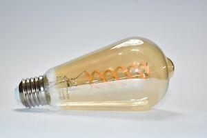 EMITTING ST64 6W Soft White Vintage Edison LED Bulb, Antique Flexible Spiral LED