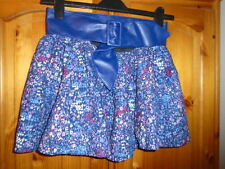 Blue, purple and pink abstract floral short skirt with belt, ATMOSPHERE, 10, NEW
