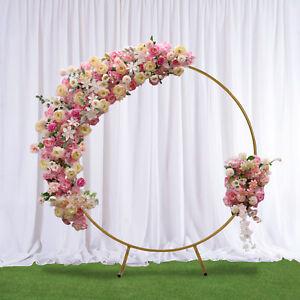Round Wedding Celebration Backdrop Decor Stand Rack Balloon Flower Sash Rack