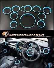 MINI Cooper/S/ONE F55 F56 F57 BLUE Interior Rings Kit for model w/Navigation XL