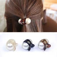 Women Pearl Acrylic Hair Claw Barrettes Mini Fashion Hair Clips Hair Accessories