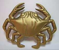 Vtg Brass Crab Door Knocker unique figural architectural hardware ornate