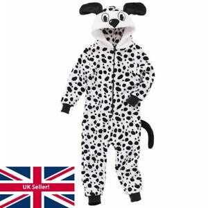 World Book Day Dalmatian Dog 1Onesie Onezi Boy Girl Fleece Character Jumpsuit