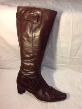 Roberto Vianni Brown Knee High Leather Boots Size 37