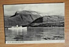 Vintage Photochrom Postcard of Loch Linnhe and Ben Nevis WT477