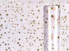 White Fabric Decor Gold Star Christmas Party Table Runner Tablecloth Dinner