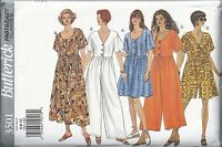 Butterick Sewing Pattern # 3501 Misses Dress and Jumpsuit Size 6-8-10