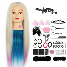 26'' Synthetic Hair Mannequin For Hairdressing Training Head Dummy + Braid Sets