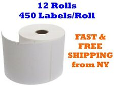 12 Rolls of 450 4x6 Direct Thermal Shipping Labels For Zebra Eltron ZP450 LP2844
