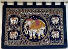 Vintage Oriental Tapestry With Elephant
