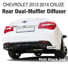 Rear Bumper Diffuser Dual-muffler Matt Black 1Pcs For CHEVROLET 2013 2014 Cruze