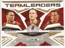 2009 Rookies & Stars Team Leaders Serial #/500 Brandon Roy Przybilla Por Blazers