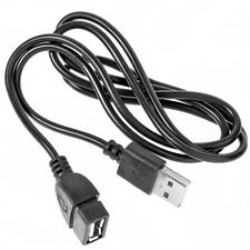 Black USB 2.0 A Male to A Female Extension Extender Cable for Cell Phone PC New