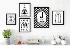 Mono Black & White Nursery Prints Playroom Bedroom Chevron Dream Big Tribal A4