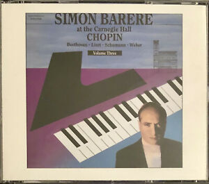 SIMON BARERE at Carnegie Hall, Volume 3: CHOPIN Beethoven Liszt | 2-Disc CD Set