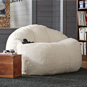 Lamb Velvet Beanbag Beds Lazy Seat Bean Bag Lounger Living Room Furniture Sofas