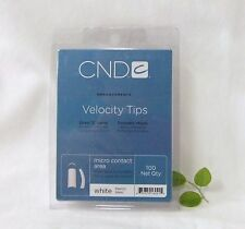 CND Creative Nail Design Tips VELOCITY WHITE 100ct/tray