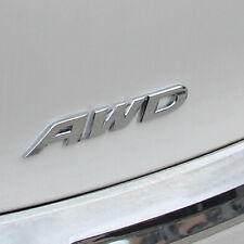 Metal Auto 3D AWD Logo Emblem Stickers SUV Body Decal Chrome Car Tailgate Badges