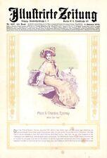 Sekt Moët & Chandon XL Reklame von 1904 in Farbe!! Champagner Epernay Dame Kleid