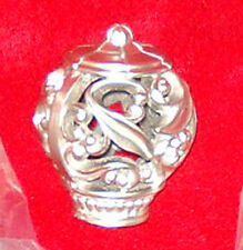 Beautiful Single Filigree Ball Curtain Tie Back in Satin Nickel — New