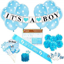 Baby Shower Party Decorations Kit: ItS A Boy Blue Theme Welcome Supplies NEW