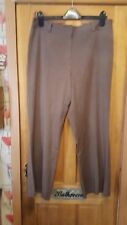 ladies brown wide leg trousers size 16