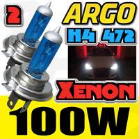 2x H4 Xenon Headlight Bulbs Head Lamps Set Bright Mega White 12v 100w