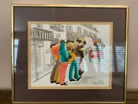 T. Taltavull Signed Original Vintage Watercolor New Orleans N.O.LA. Jazz Players