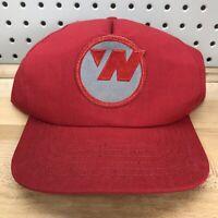 Vintage Northwest Airlines Red SnapBack Baseball Cap USA Made 80's Hat EUC Vtg