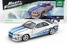 GREENLIGHT 2 Fast 2 Furious Brian's 1999 Nissan Skyline GT-R (R34) 1:18*New!