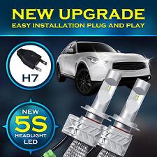 2x H7 LED Headlight Bulbs Philips Conversion Kit 80W 8000LM 6500K XENON White