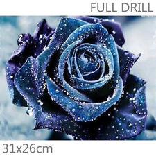 UK Full Drill Rose & Dew 5D Diamond Painting Flowers Embroidery Cross Stitch Kit