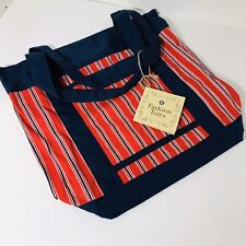 Red and Blue Stripes Fashion tote Bag/ Shoulder Bag/ Fabric Tote Bag