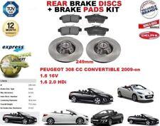 Peugeot 308 CC Cabrio 249mm Bremsscheiben SET HINTEN+Bremsbelagsatz