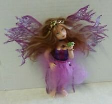 RENEE HARRIS OOAK Fairy Figurine Figure Doll HANDMADE BUTTERFLY WING FROG PURPLE