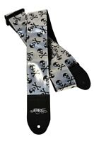 Daisy Rock Silver & Black Skull Adjustable Guitar Strap - DRS04
