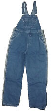 Arizona Womens Overalls Blue Denim Bibs Size Large L Stone Washed Jean Pockets