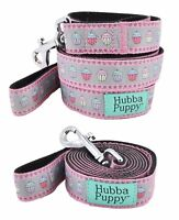 Hubba Puppy Small 4ft Dog Leash Pastel Cupcakes Grey and Pink Durable Nylon Cute