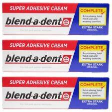 German blend-a-dent Denture Adhesive Cream Extra Stark ORIGINAL 47g (3 PACK)