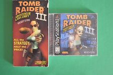 Tomb Raider III: Adventures of Lara Croft Sony PlayStation 1 1998 CIB + Guide!!