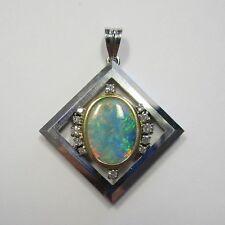Exquisiter Anhänger Weißgold Gelbgold 750 mit Opal und Diamanten - 1336/2652