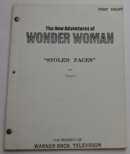 Wonder Woman * 1978 Original TV Show Script * Lynda Carter, Stolen Faces