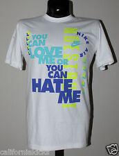 NIKE Love Me Hate Me T-Shirt sz L Large White Blue Volt Premium Max 90 95 NEW
